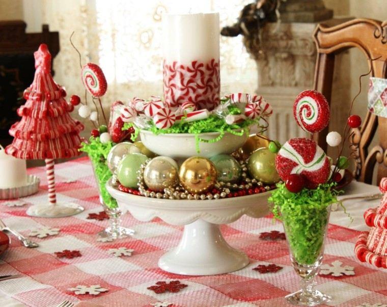 decoracion de navidad brillante oro centro bolas ideas