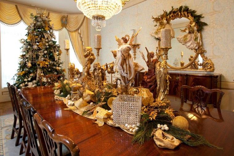 decoracion de navidad brillante oro centro precioso ideas