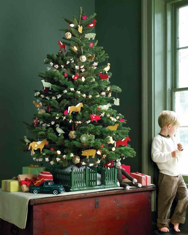 Tabletop christmas tree decorating ideas - Decoracion De Navidad Ideas Para Decorar Casas Peque 241 As