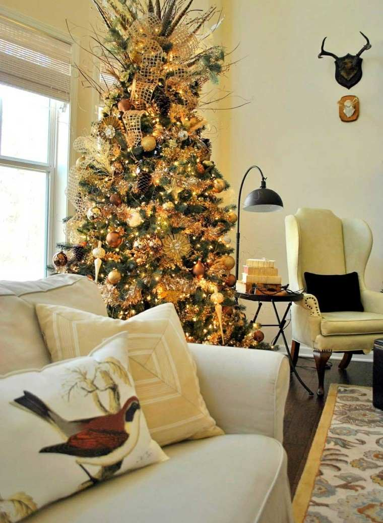 Decoracion de navidad ideas para decorar casas peque as - Decorar un salon rustico moderno ...