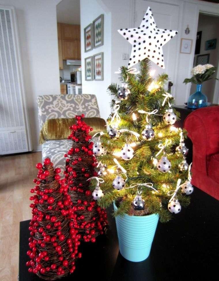 decoracion navidad ideas para decorar maceta azul moderno