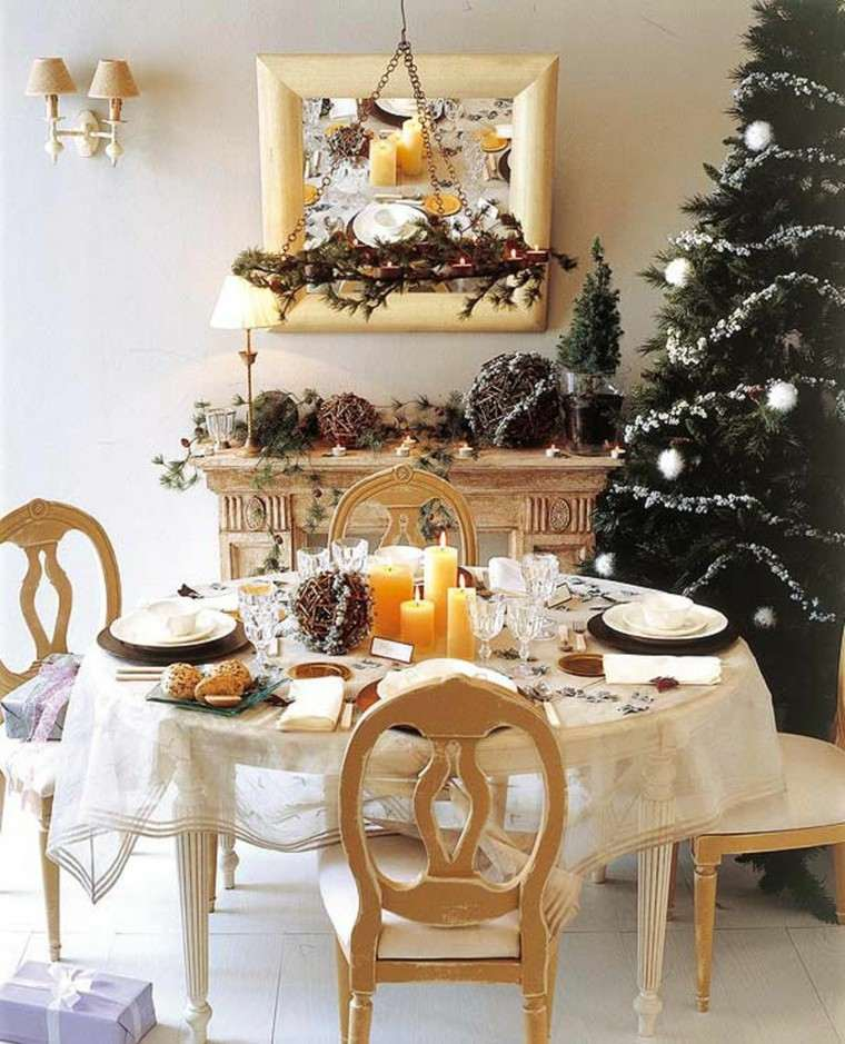 decoracion de navidad ideas para decorar mesa comidas moderno