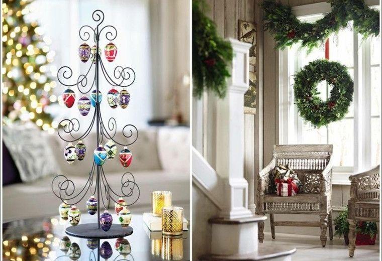 decoracion navidad ideas para decorar ventana guirnalda modernas