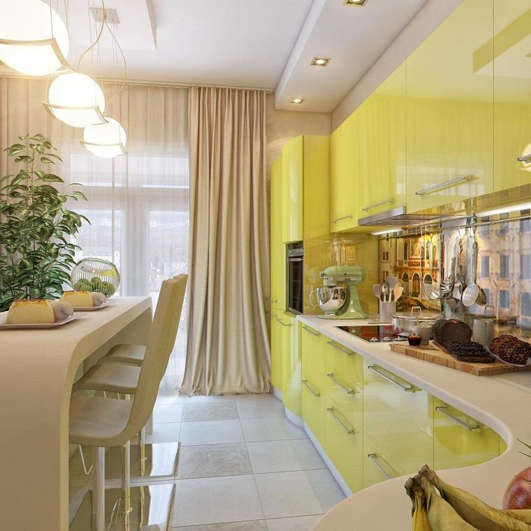 decoracion de paredes rayas armarios amarillos pared colores ideas