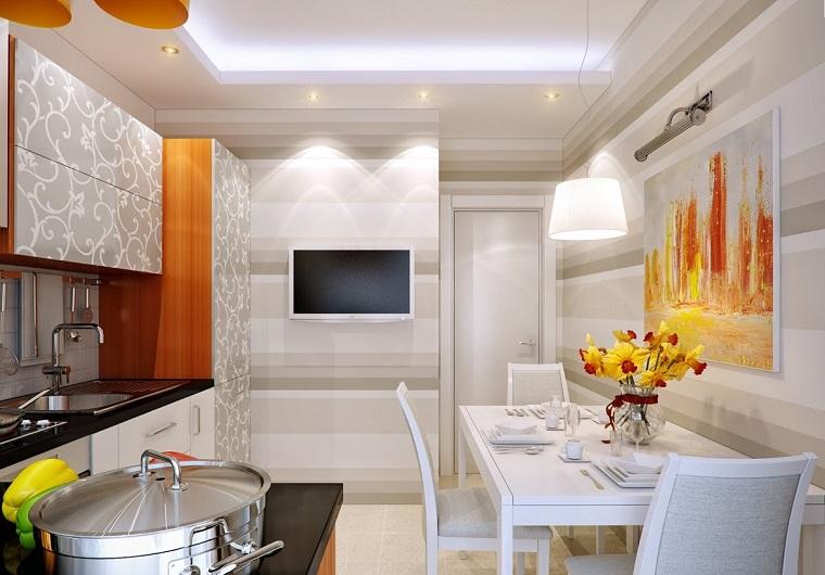 Decoracion de paredes rayas mosaico o acero en la cocina for Decoracion de paredes modernas