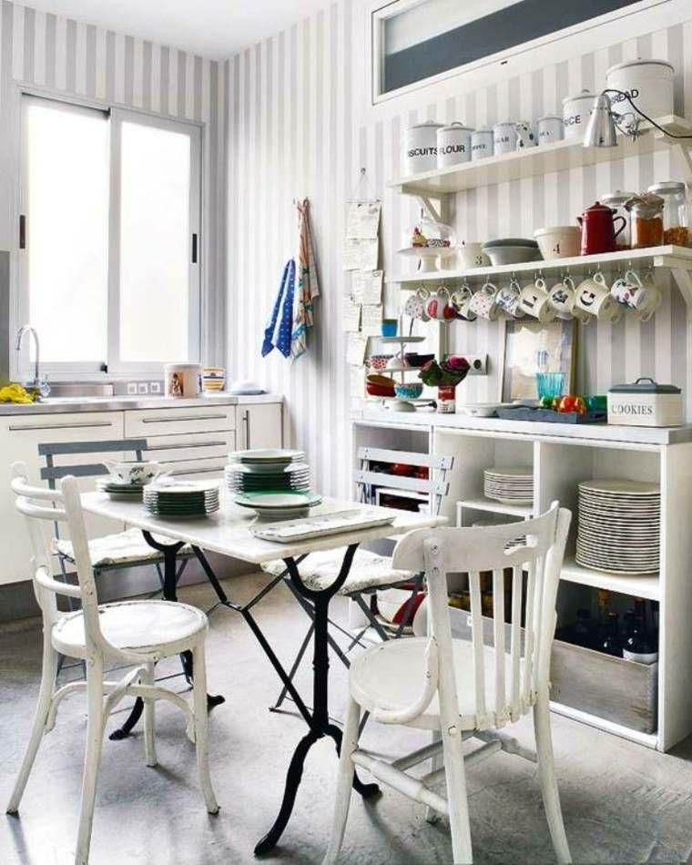decoracion de paredes rayas grises blancas ideas