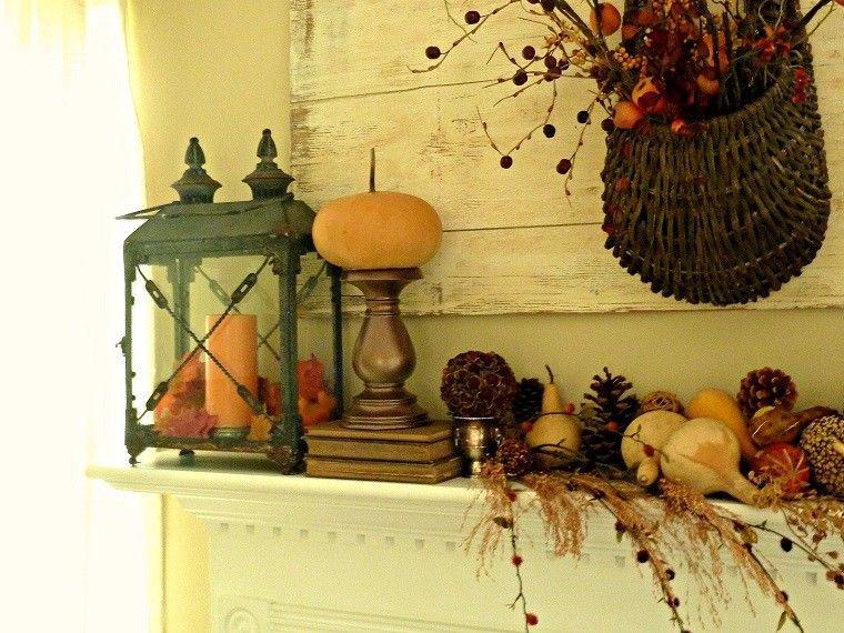 decoracion farolas iluminacion chimenea cesto ideas