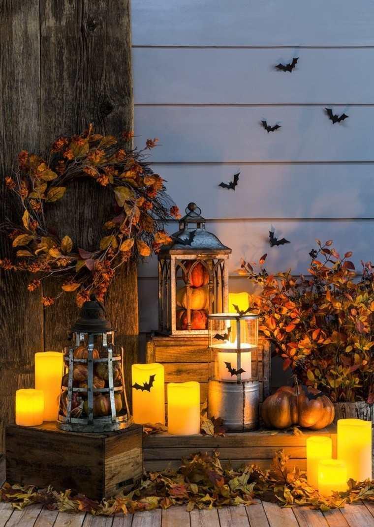 decoracion farolas iluminacion guirnalda entrada casa ideas