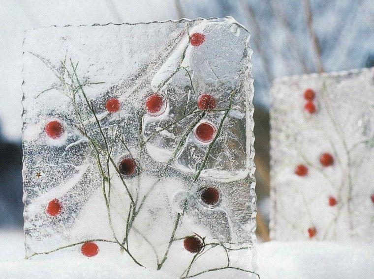 decoracion hielo navidenas forma cuadrada ideas