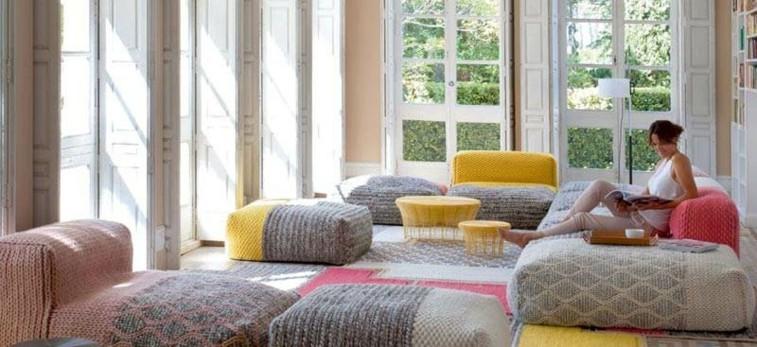 decoracion muebles fundas lana