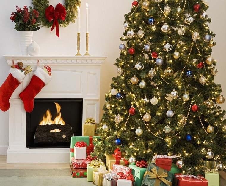 decoracion navidad colores vibrantes decorar casa arbol grande ideas