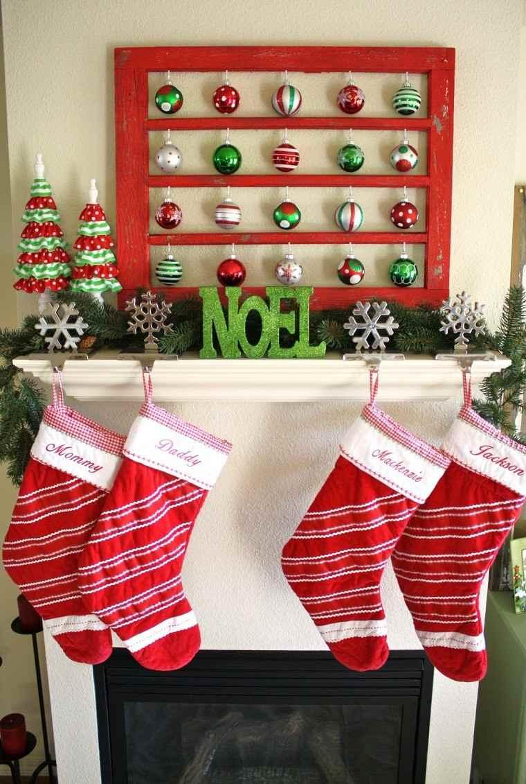Decoracion de navidad colores vibrantes para los adornos - Navidad decoracion casas ...
