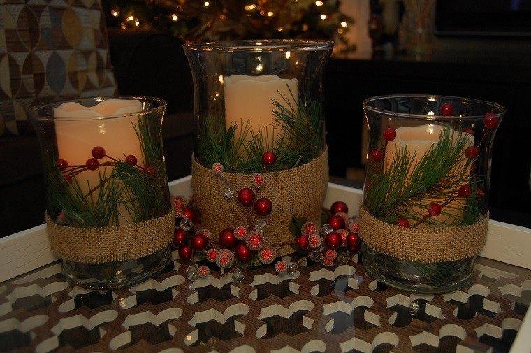 decoracion navidad colores vibrantes decorar casa candelabros preciosos ideas