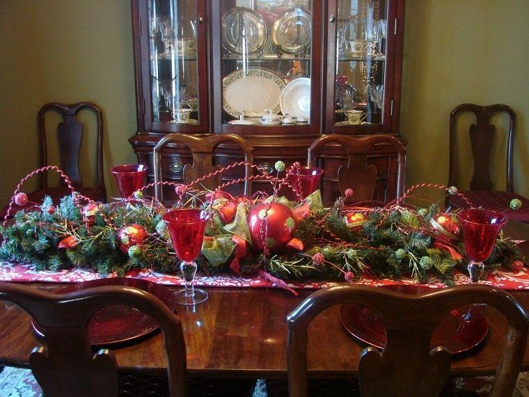 decoracion navidad colores vibrantes decorar casa centro mesa precioso ideas