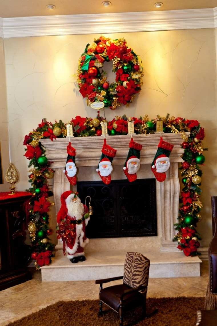 Decoracion de navidad colores vibrantes para los adornos Ideas para decorar la casa en navidad