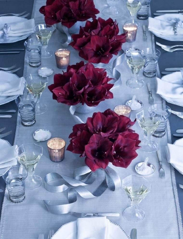 decoracion navidad colores vibrantes decorar casa flores centro mesa ideas
