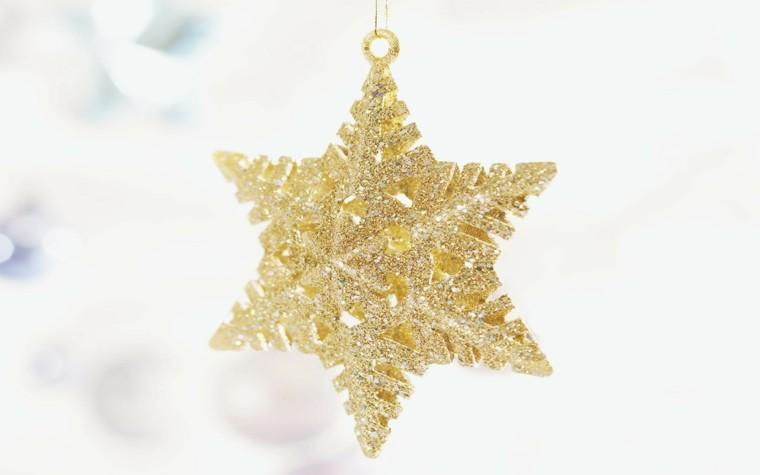 decoracion navidad brillante oro estrella decorar arbol navidad ideas