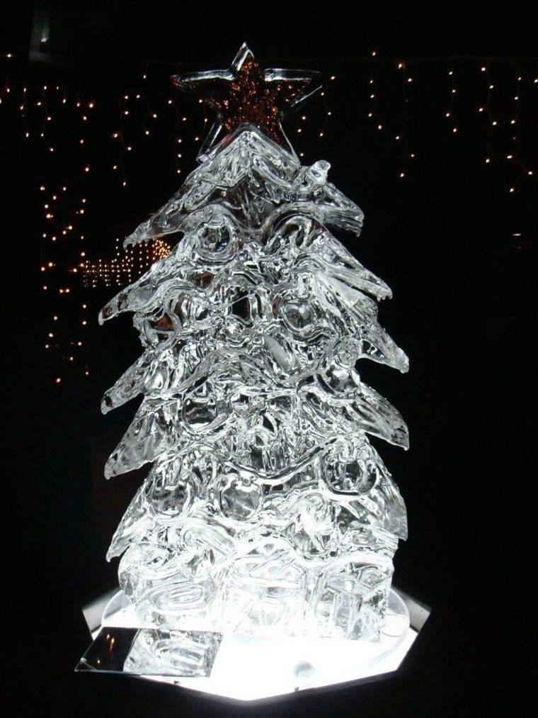 decoracion navidad hielo arbol navidad hielo precioso ideas