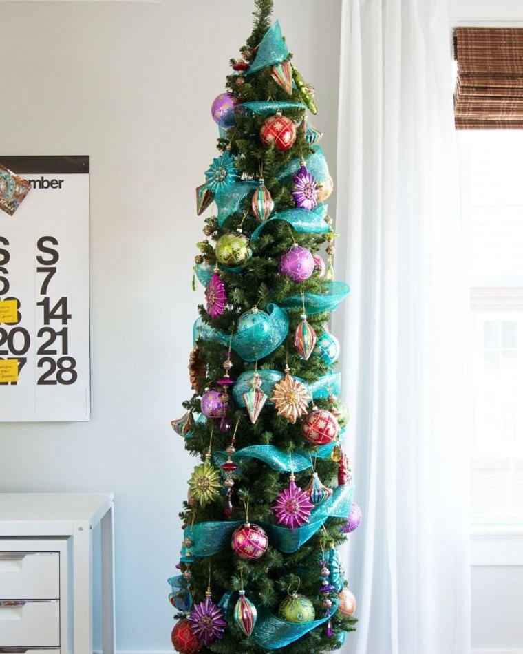 decoracion navidad decorar arbol estrecho alto ideas