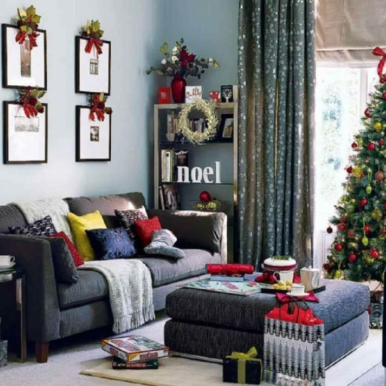decoracion navidad ideas para decorar cuadros lazos moderno