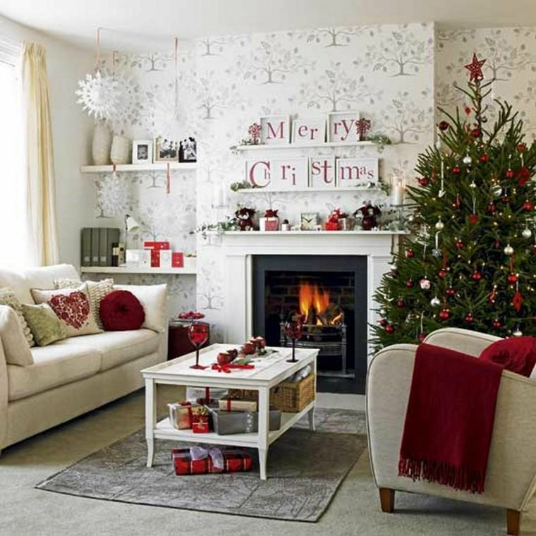 decoracion navidad ideas para decorar mesa blanca ideas