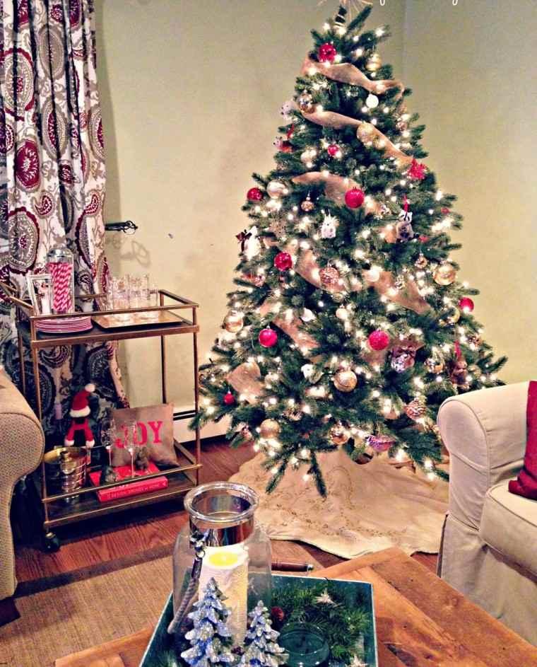 decoracion navidad ideas para decorar salon moderno arbol pequeo