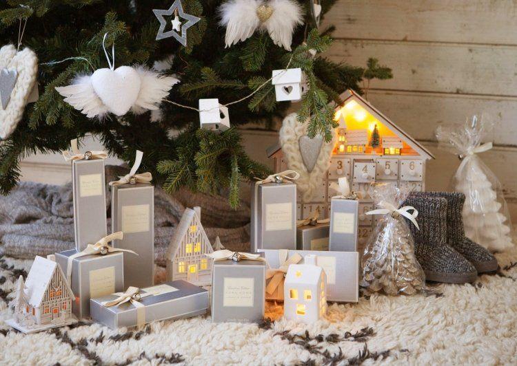 decoracion navideña salon adornos blancos arbol ideas