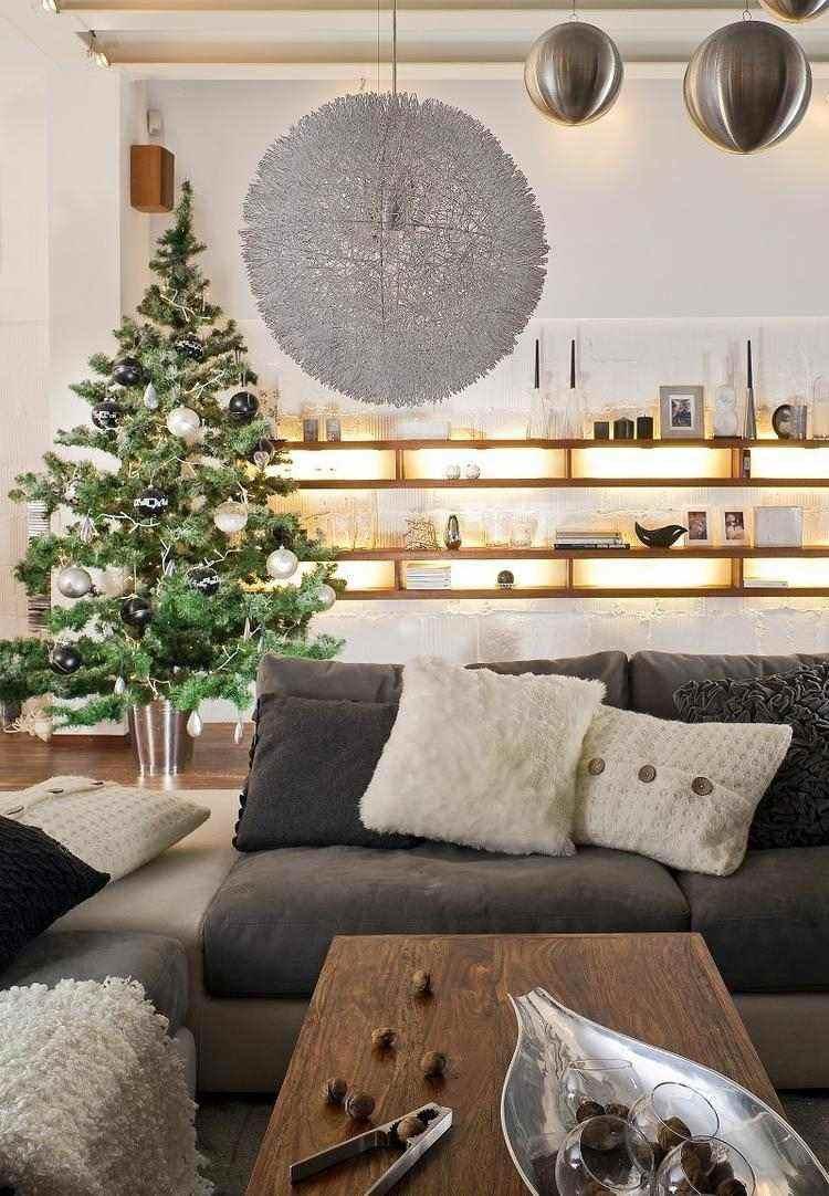 Adornos decoracion navide a para el sal n moderno for Decoracion navidena moderna