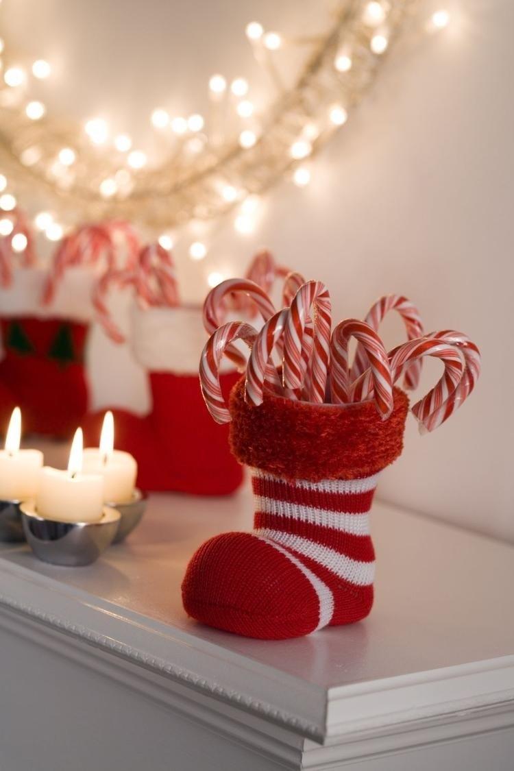 decoracion navidena salon calzetin caramelos dentro ideas
