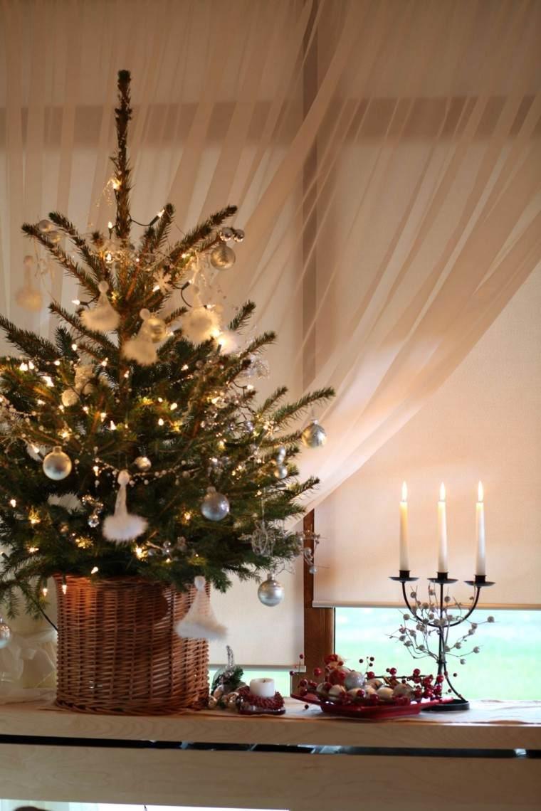 Decoracion navide a ventanas con adornos preciosos - Chimeneas decoradas para navidad ...
