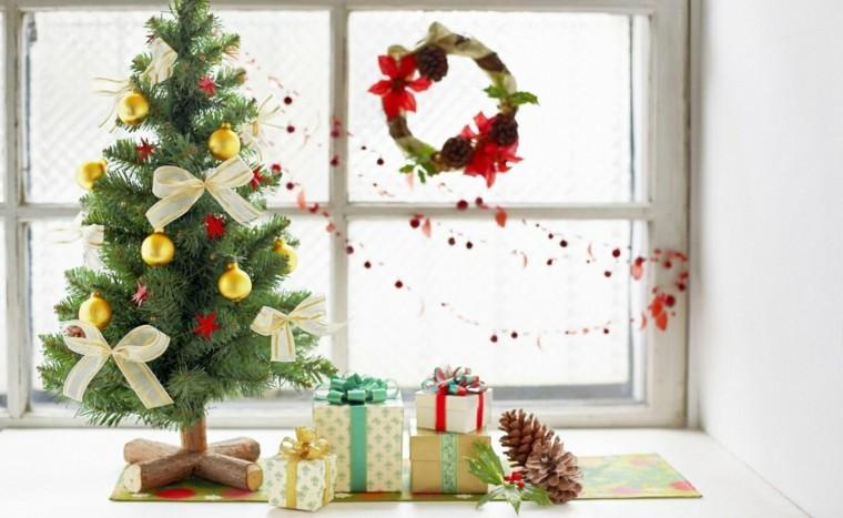 Decoracion Ventanas Navidad ~ decoracion navidena ventana arbol regalos guirnalda ideas