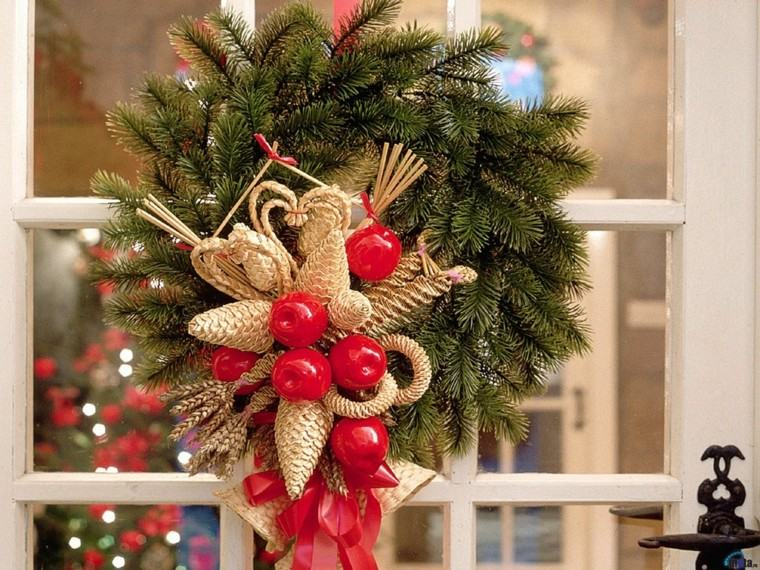 Decoracion navide a ventanas con adornos preciosos for Decoracion del hogar navidad 2015