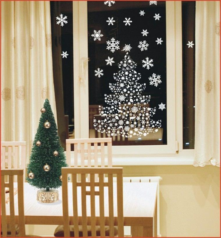 decoracion navideña ventana pegatinas navidenas ideas