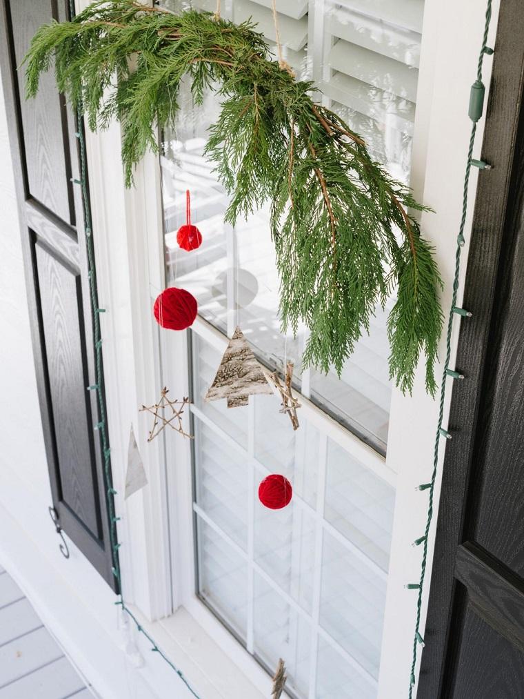 decoracion navideña ventanas abeto sama ideas