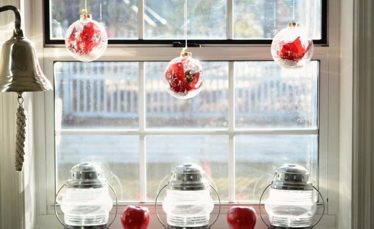 decoracion navideña ventanas bolas farolas ideas