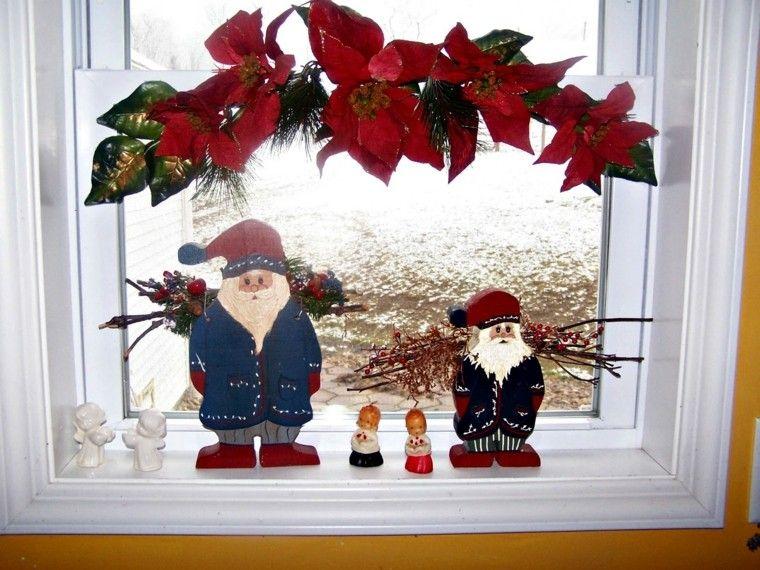 Decoracion navide a ventanas con adornos preciosos for Ideas para adornar puertas en navidad