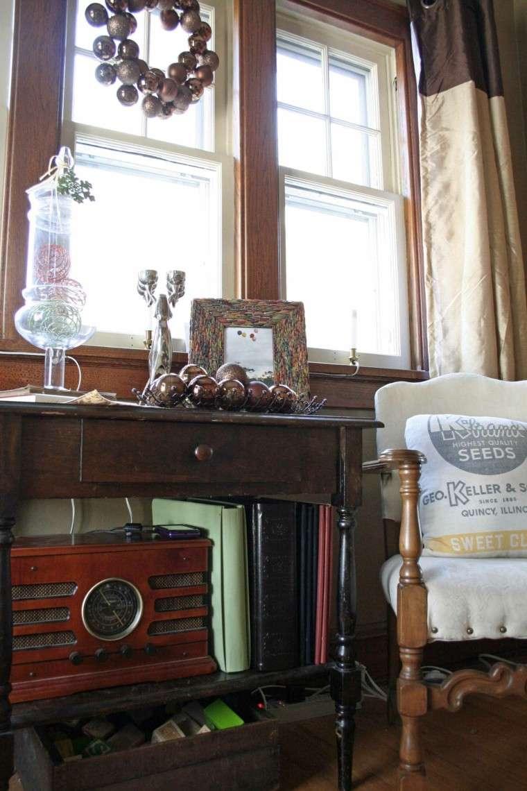 decoracion navidena ventanas guirnalda bolas ideas