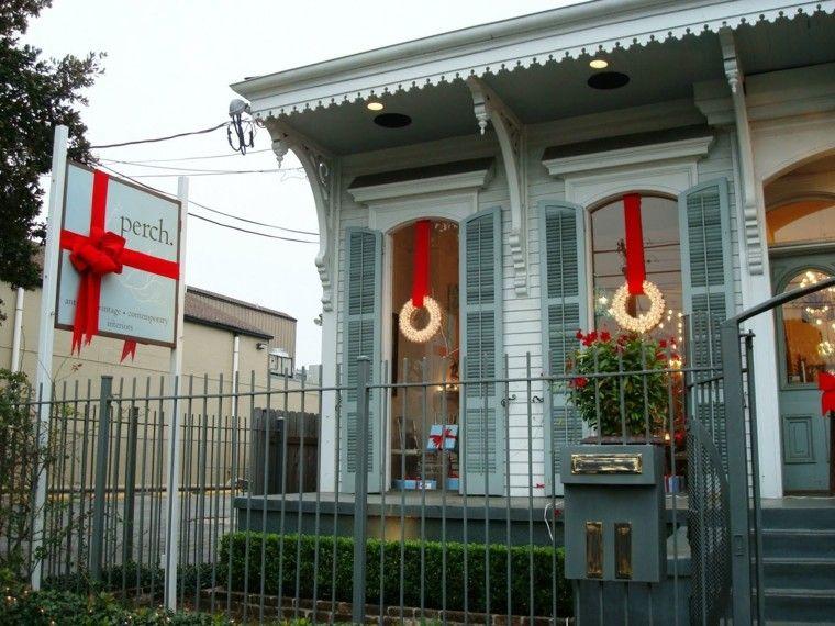decoracion navidena ventanas guirnalda luces pequena ideas