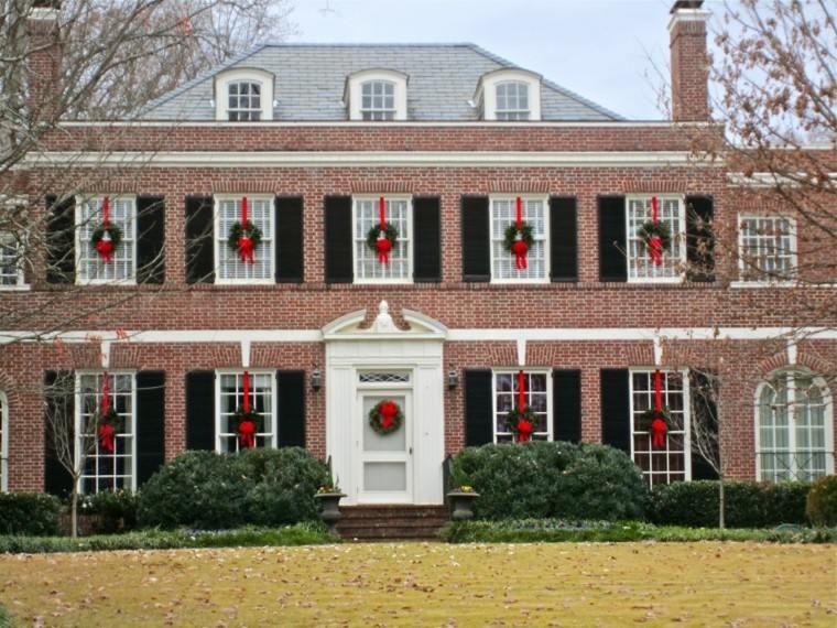 decoracion navidena ventanas guirnaldas todas ventanas ideas