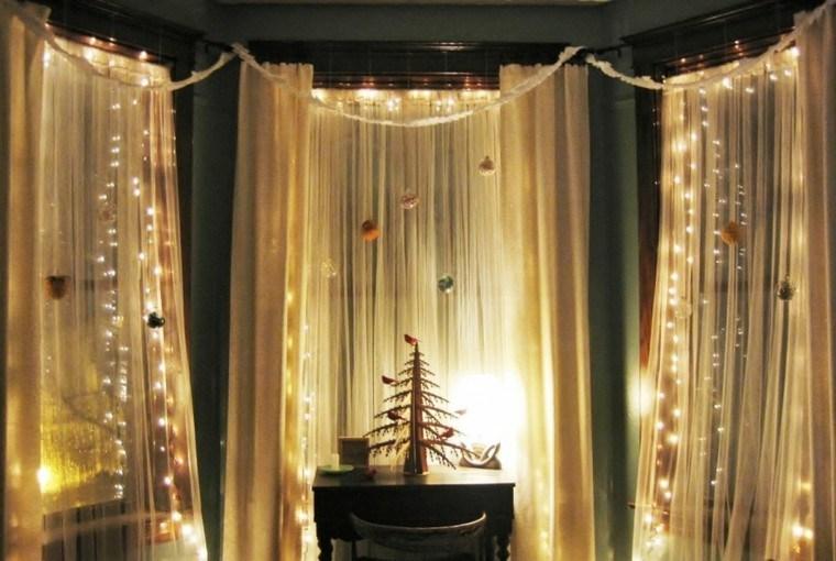 decoracion navidena ventanas luces bolas ideas