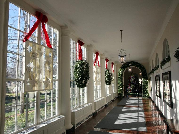 decoracion navidena ventanas original papel estrellas ideas