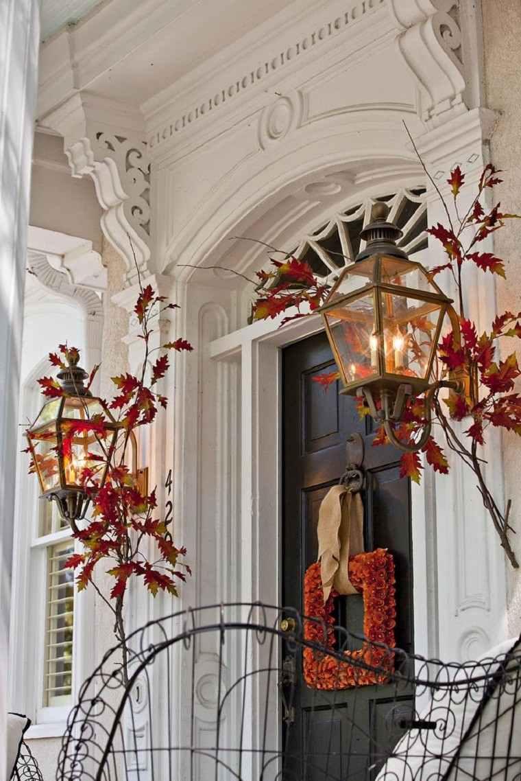 decoracion otoño farolas iluminacion guirnalda original ideas