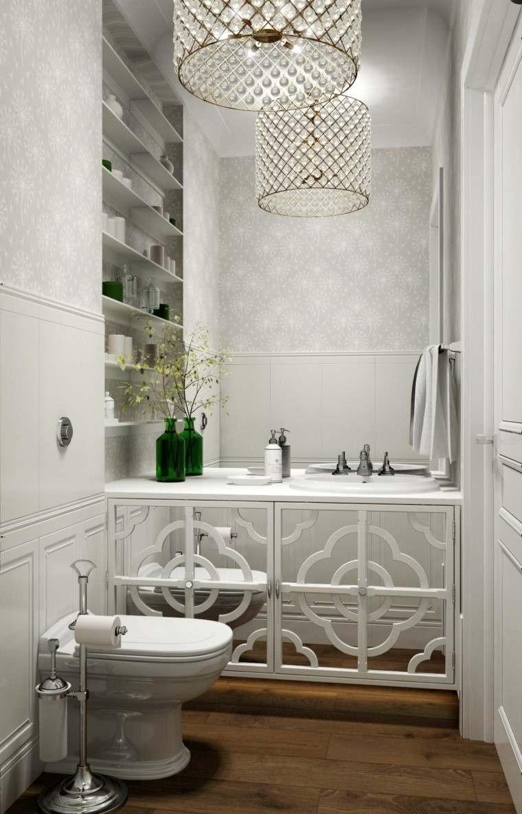 decorado natural estantes baños verde