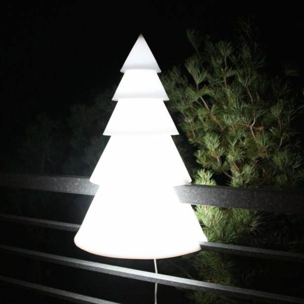 decorar terrazas abeto lampara