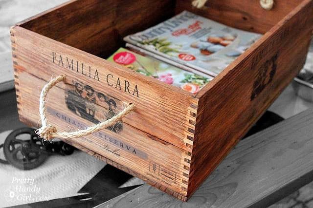 decorar cajas de madera cuerda vino - Cajas De Vino Decoradas