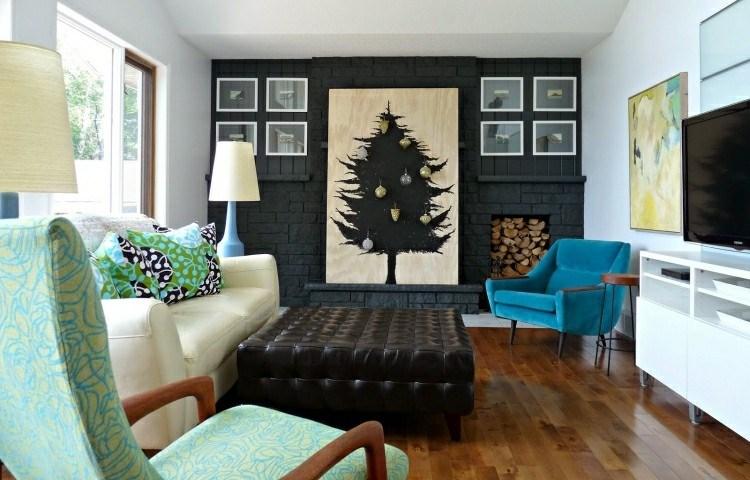 adornos navideños caseros salon planta fondo