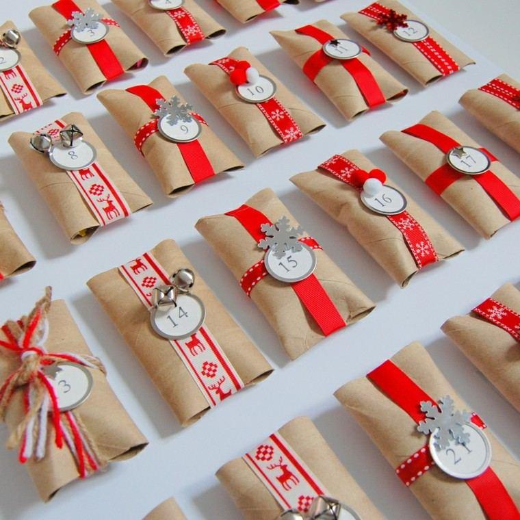 detalles cintas rojo blanco rollos
