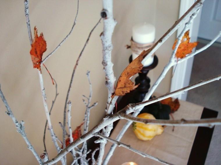 detalles hojas secas interiores velas