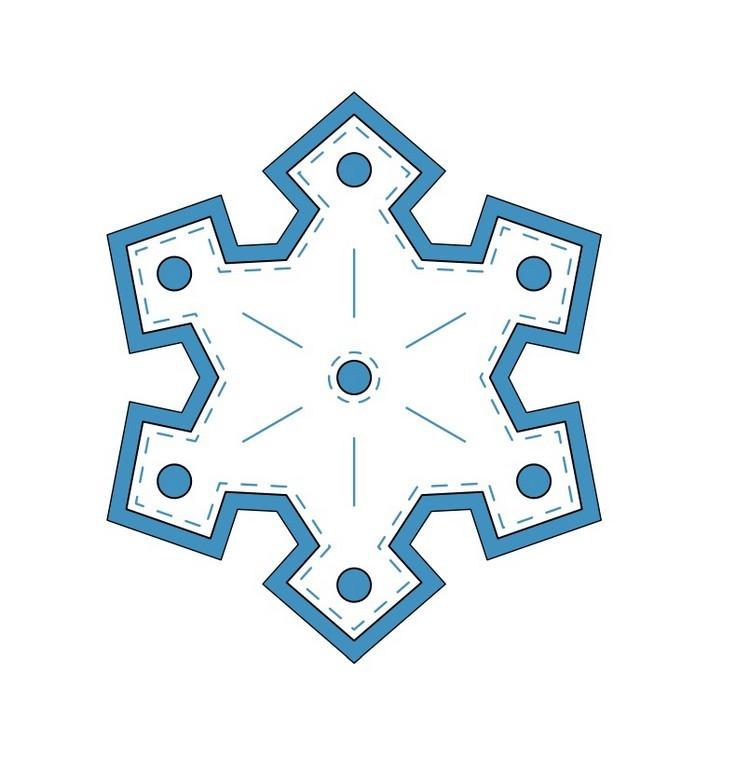 dibujo para imprimir recortar sorprender ninos navidad copo nieve ideas