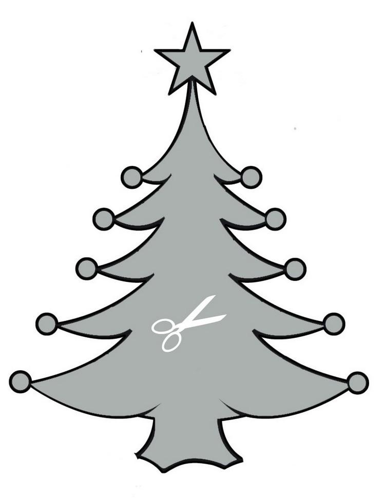 Dibujos para imprimir recortar y decorar en navidad - Arbol de navidad para pared ...